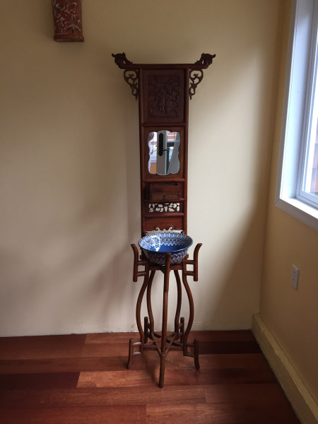 SOLD – Tibetan Stand, Solid Wood