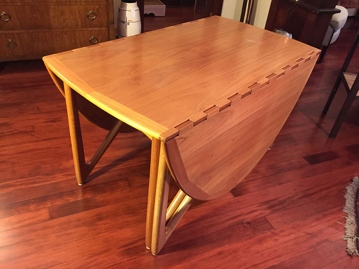 Sold Kurt Ostervig Solid Teak Dining Table Modern To