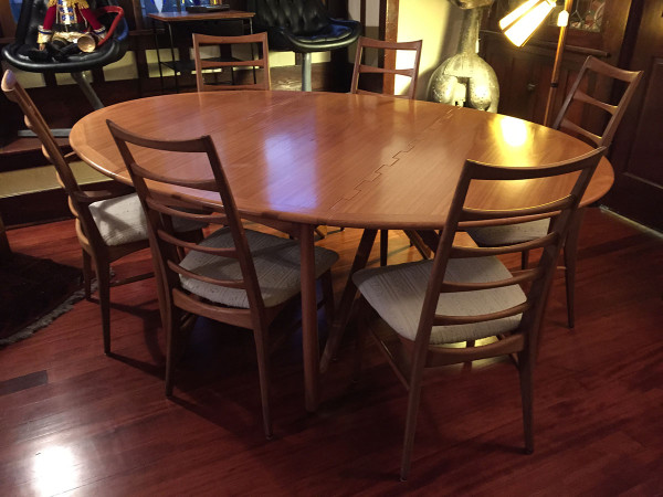 SOLD – Kurt Ostervig Solid Teak Dining Table