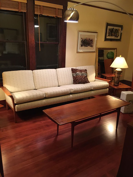 SOLD – Custom Danish Mid-Century Sofa