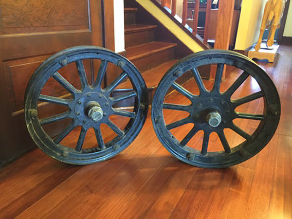 SOLD – Antique Jaxon Wheels With Wood Spokes – A Pair