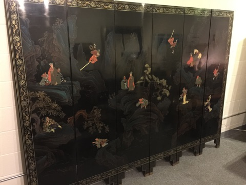 SOLD – Vintage Chinese Six-Panel Room Screen