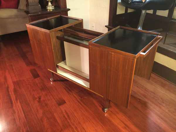 SOLD – Mid-Century Danish Modern Rosewood Bar Cart
