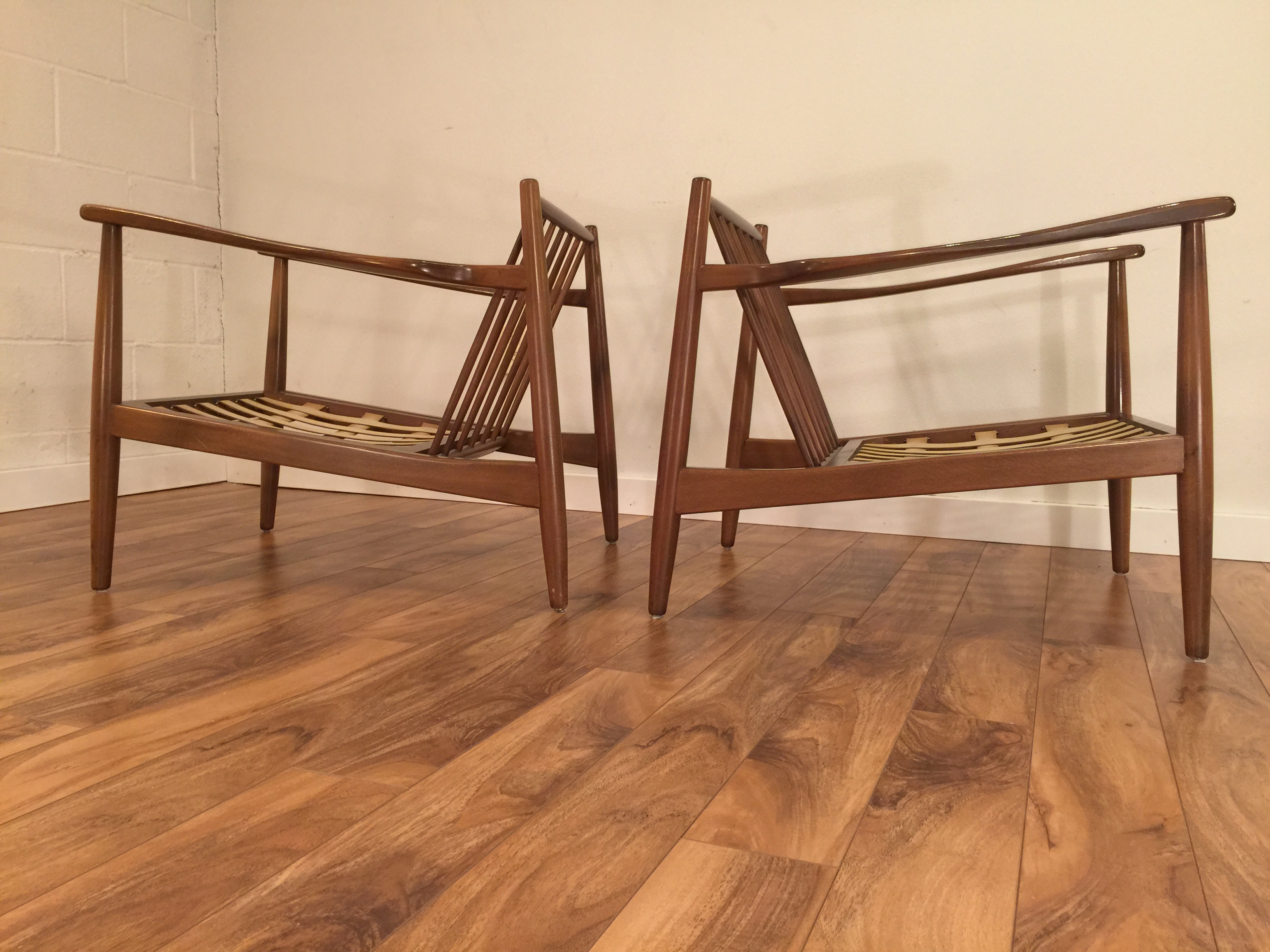 sold danish modern lounge chairs a pair modern to vintage