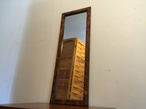 SOLD – Burl Wood Framed Mirror