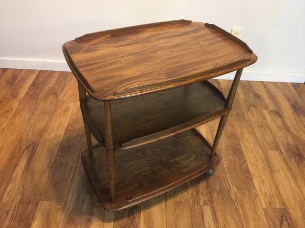 MCM Solid Wood Tea Trolley/Bar Cart – $495
