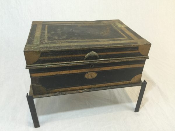SOLD – Military Metal Dispatch Box, Circa 1800's