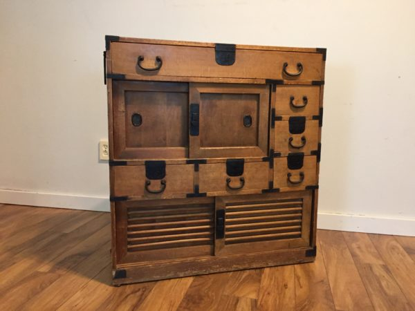 SOLD – Asian Tansu Chest with Iron Detailing