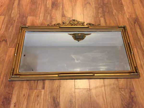 SOLD – Antique Gilt Mantel Mirror