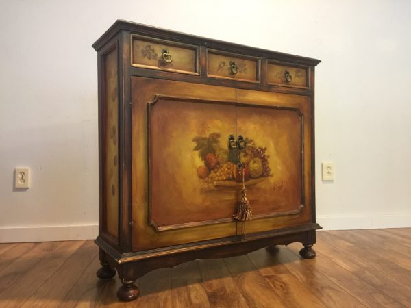 SOLD – Hand Painted Chest / Entry Table