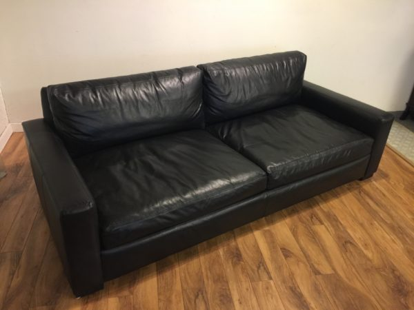 SOLD – Restoration Hardware Maxwell Leather Sofa