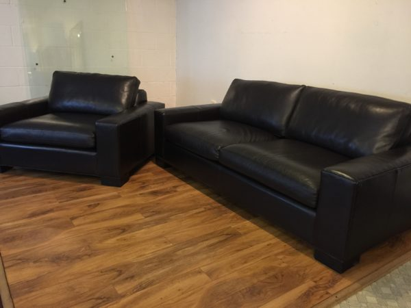 SOLD – Room & Board Leather Sofa & Chair