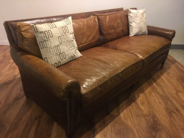 SOLD – Ralph Lauren Home Leather Sofa