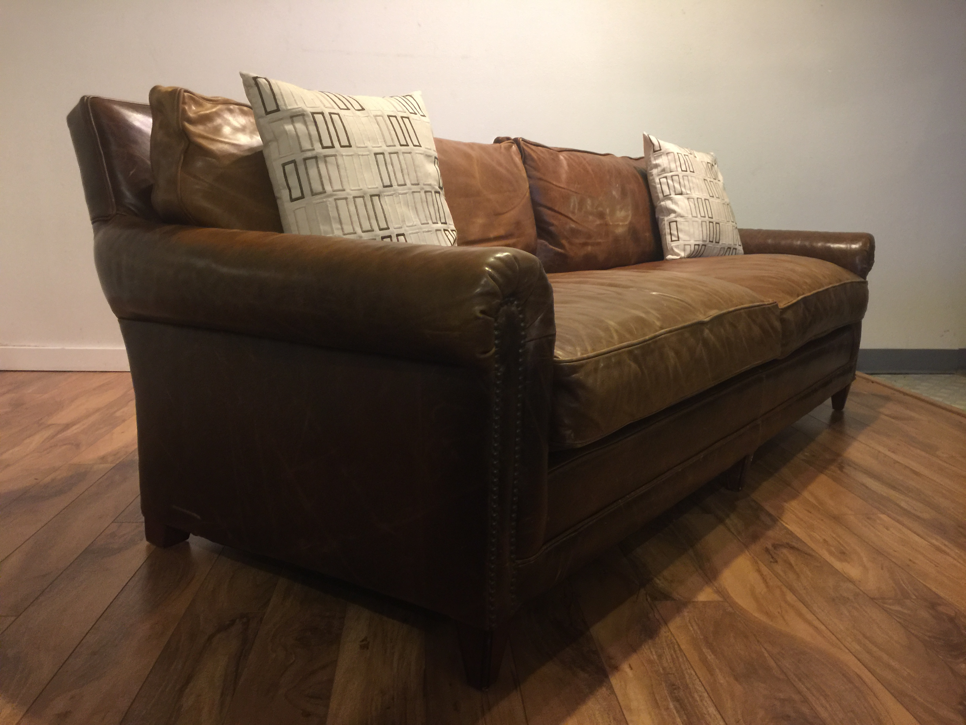 Sold Ralph Lauren Home Leather Sofa Modern To Vintage
