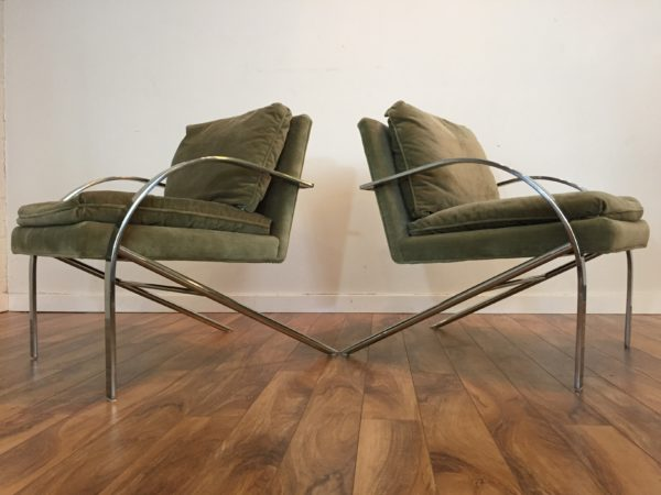 SOLD – Paul Tuttle Arco Chairs – Pair