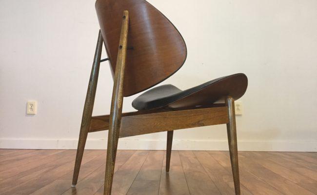 SOLD U2013 Vintage Wiener Kodawood Clam Shell Chair