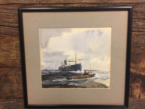 Framed Watercolor Dennis John Hanceri – $125