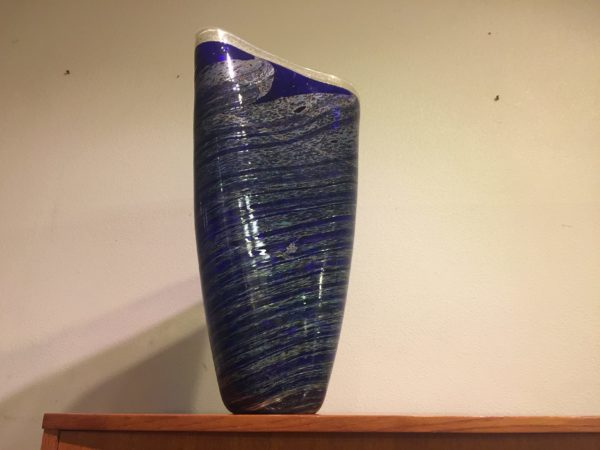 Large Blown Glass Vase / Art Piece – $260