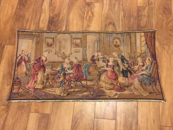 French Courting Scene Tapestry – $125