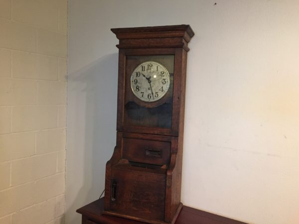 Antique Quartersawn Oak Time Clock – $495