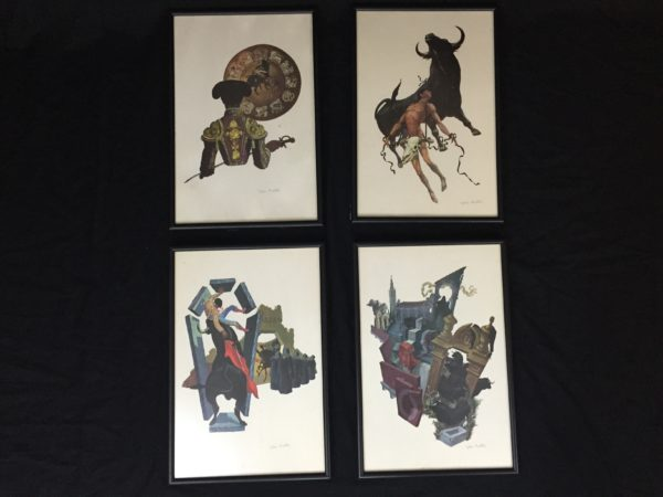 Set of 4 John Fulton Lithographs – $140