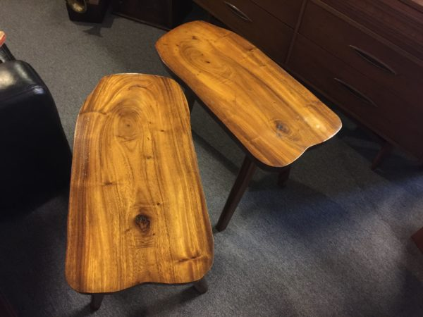 SOLD – Pair Monkey Pod Live Edge Side Tables