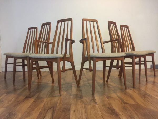 SOLD – Koefoeds Eva Dining Chairs – Set of 6