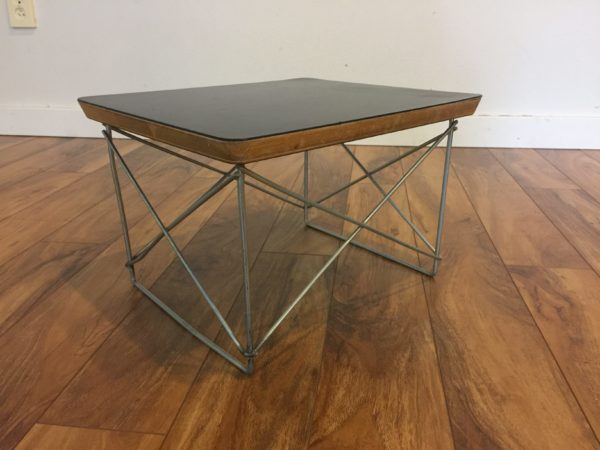SOLD – Vintage Eames Wire Base Low Table