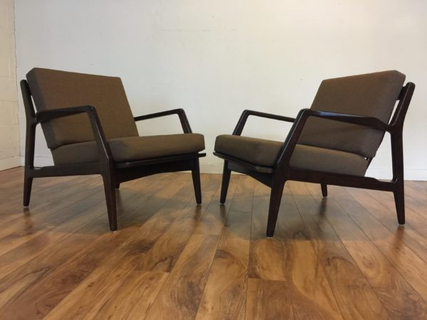 SOLD – Pair Ib Kofod-Larsen Lounge Chairs