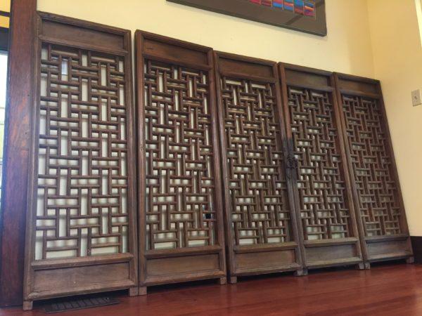 SOLD – Set of 5 Vintage Wood Door Panels