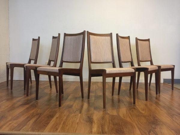 Karl Erik Ekselius Rosewood Dining Chairs – $1550