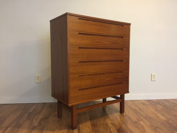 SOLD – Nils Jonsson Danish Teak Highboy Dresser