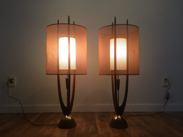 SOLD – Modeline Mid Century Table Lamps – A Pair