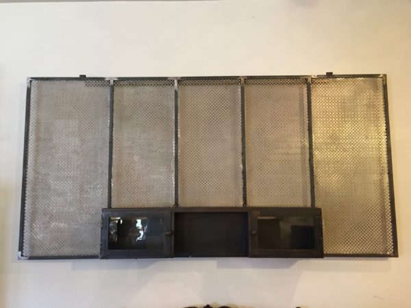 Custom Metal Wall Hanging & Cabinet – $895