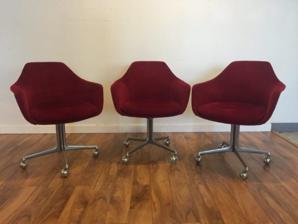 Vintage Red Rolling Chair – $150