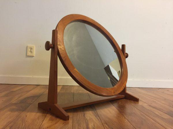 Pedersen & Hansen Teak Round Tilt Mirror – $560