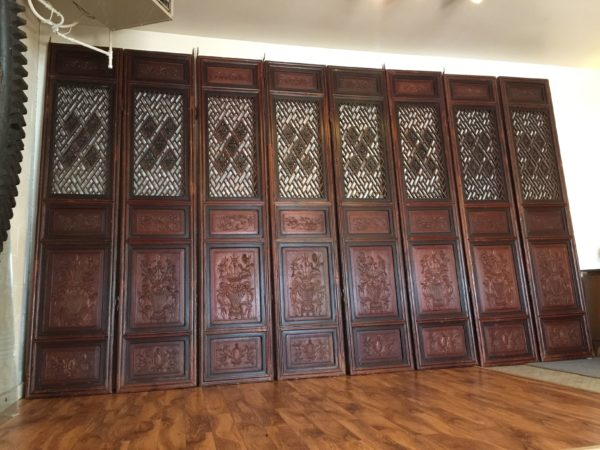 Antique Chinese Carved Wood Doors, Set of 8 – $5995