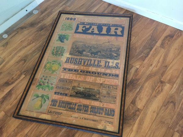 Morgan Printing Framed 1883 County Fair Poster – $2695