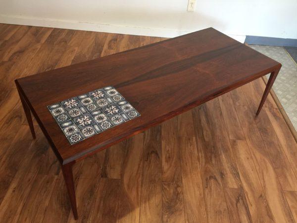 Johannes Andersen Rosewood & Tile Coffee Table – $995