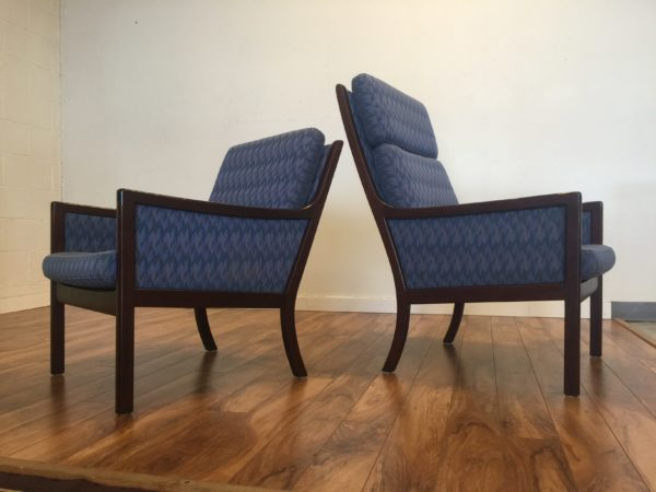 Ole Wanscher for P. Jeppesen Lounge Chairs – $525 Each