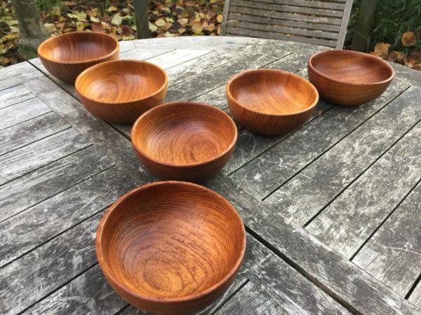 Kay Bojesen Teak Bowls, Set of 6 – $695