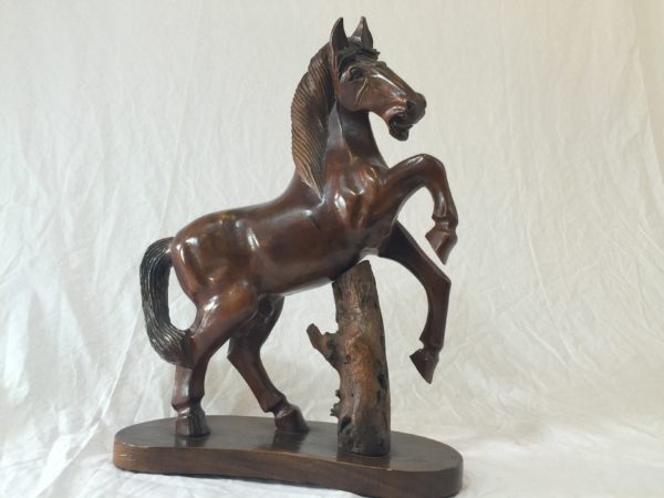Gorgeous Carved Horse on Stand – $130