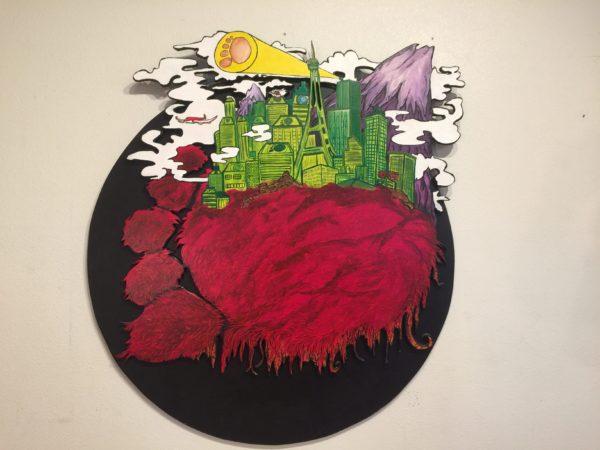 Vincent Gordon Abstract Round Sasquatch – $445