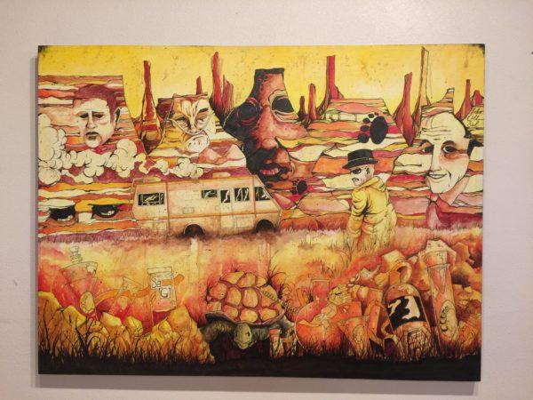 """Sean Dietrich """"Breaking Bad"""" on Canvas – $495"""