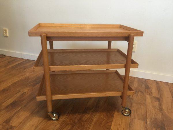 Poul Hundevad Danish Teak Bar Cart – $995