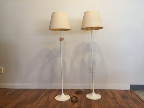 Laurel Tulip Floor Lamps Pair – $700