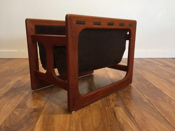 Salin Mobler Danish Teak & Leather Magazine Rack – $395