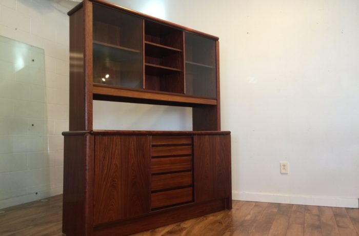 SOLD – Skovby Danish Rosewood Sideboard with Hutch