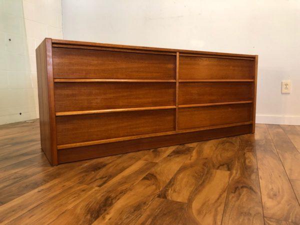 SOLD – Danish Teak 6 Drawer Lowboy Dresser