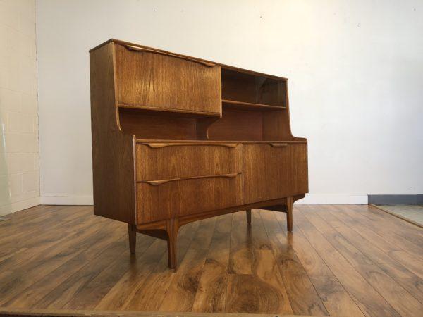 "Danish Modern ""S Form"" Teak Sideboard Bar – $1195"